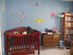 Sea Creatures Fabric Wall Decal Set