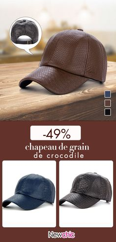 Men Classic Crocodile Grain PU Leather Baseball Cap Casual Outdoor Sun Hats  Adjustable Duck Cap is hot sale on Newchic. a37a6b5db863