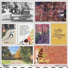 digital scrapbook project life layout created with Hello Fall kit and journal cards by Just Jaimee