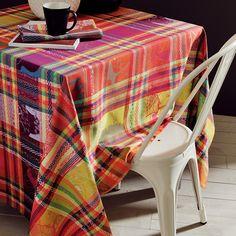 Nappe fantaisie Garnier-Thiebaut - Modèle : Mille zoom - Nappe en coton - Coloris : multicolore