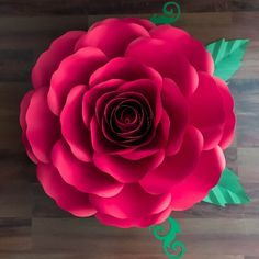 SVG-DXF XL Rose Paper Flower Template Diy Cricut and Silhouette machines Center Bud included for Paper Flowers for wedding & event decor Giant Paper Flowers, Diy Flowers, Silhouette Machine, Silhouette Cameo, Flower Petal Template, Annie Rose, Stencil Diy, Event Decor, Rose Buds
