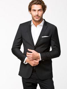 Kavaj River Island Skinny Black Jacket för 995 kr, nly man