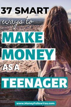 How To Earn Money For Teens, Making Money Teens, Ways To Get Money, Make Quick Money, Make Money Today, Earn Money From Home, Start Own Business, Business Ideas, Legitimate Online Jobs