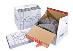 Pfiffige #Versandboxen für #Textilversand - Kreativ die Marke in Szene setzen. • #ColomPac® #Verpackungen mit #Flexodruck. • #Dinkhauser Kartonagen GmbH, #Aufreißfaden, #Selbstklebeverschluss, #Onlineshops, #Branding Smart Box, Ecommerce, Online Shops, Recycling, Print Packaging, Innovation, Branding, Prints, Graphic Designers