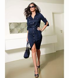 18 The Most Attractive Spring Fashion Combination. Wow. This navy blue outfit is absolutely gorgeous.