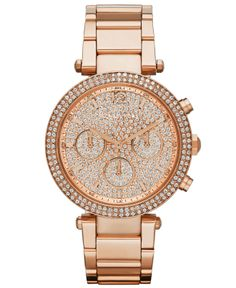 Michael Kors Women s Chronograph Parker Rose Gold-Tone Stainless Steel  Bracelet Watch 39mm MK5857 - A Macy s Exclusive Jewelry   Watches - Watches  - Macy s 6fc8dcb8656