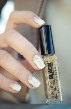 love the idea of a little metallic accent on the nail moon.