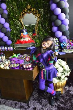 Disney Descendants party Birthday Party Ideas | Photo 1 of 32 | Catch My Party