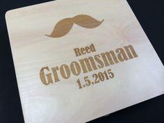 Mustache Will You Be My Groomsman Invitation and Keepsake Box