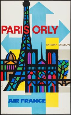 Air France Paris Orly Tor Europas poster by Georget Guy. Subjects : Transportation,Travel World,Aviation,Paris. Lithography from ca Parisposters only offers original vintage posters. Air France, Retro Airline, Airline Travel, Vintage Airline, Fun Travel, City Poster, Paris Poster, Old Poster, Retro Poster
