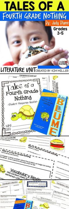 This is a 32-page reader's response booklet is designed for students to use while reading the book Tales of a 4th Grade Nothing by Judy Bloom. This packet is broken down into sections that make reading the book and responding easier for students. A 3-page book test is also included. A fun literature unit!
