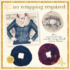 Just $24 each! Visit www.justjewelry.com and enter your zip code to begin shopping! #justjewelry #jewelry #fashionjewelry #fashionaccessories #scarves #fallfashion #warm #limitedtime