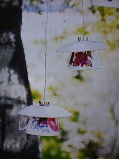 Teacup and Saucer Garden Lights