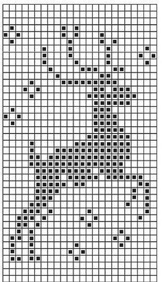 Tolles Muster für eine Weihnachtsdecke