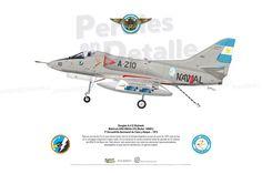 Douglas A-4 Q Skyhawk  Matrícula ARA 0663/A-310 (BuAer 145001) 3º Escuadrilla Aeronaval de Caza y Ataque – 1973