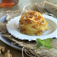 Milhojas de manzana y nueces