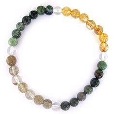 Wear your ANTI DEPRESSION Energy Bracelet to stay focused on what you are looking for in life. Round 6mm genuine Citrine, Bloodstone, Rutilated Quartz, and Moss Agate beads (clockwise from right) are