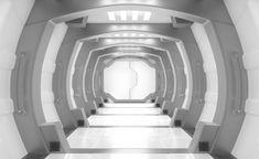 Spaceship white and grey interior , Lobby Interior, Gray Interior, Interior Design, Futuristic Interior, Corridor, Free Photos, Stairs, Stock Photos, Dj Pro
