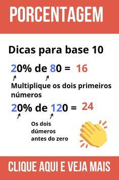 Neste artigo você vai aprender a calcular a variação percentual entre dois valores utilizando uma fórmula muito simples. Você vai ver detalhadamente como fazer conta de porcentagem entre dois valores. School Hacks, I School, Algebra Formulas, Learn Hindi, Maths Solutions, Math Notes, Math Vocabulary, Study Organization, School Planner