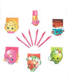 Six-Piece Shopkins™ Note Pad & Pen Set #zulily #zulilyfinds