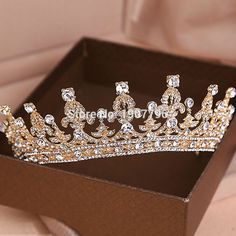 Luxury Wedding Bridal Crystal Tiara Crowns Princess Queen Pageant Prom Rhinestone Veil Tiara Headband Wedding Hair Accessory-in Hair Jewelry from Jewelry on Aliexpress.com | Alibaba Group