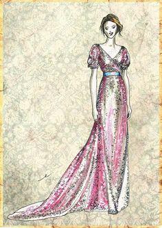 Elisenda Rico fashion illustration, ERDEM