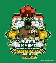 Wwe Logo, Jinder Mahal, Wwe Champions, Sports Games, Vector Art, Brother, Wrestling, Entertaining, Cartoon