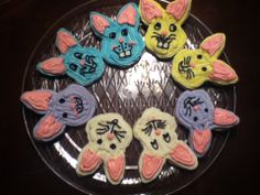 Sugar cookie Easter bunnies with buttercream frosting.