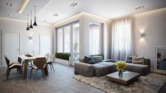 Modernes Apartment mit atemberaubender Inneneinrichtung wohnzimmer
