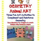 Geometry Art Activity Project - Create Cute Animals Tiger, Bunny, and Cat  Let your students be creative and apply what they have learned about sha...