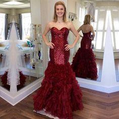 Charming Prom Dress, Sexy Mermaid Evening Dress, Sleeveless