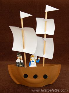 Step 10 Mayflower or Pirate Ship craft