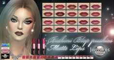 voici biskini blop pushies matte lips  10 couleurs matte intense.  avec ou sans dents.  un baiser divin et chic.  Happy simming! zone...