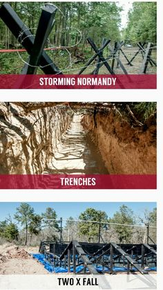 Storming normandy Trenches 2 times falls Obstacle course ideas for adults Fitness obstacles