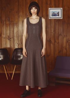 Grey Wool Maxi Dress | FLOW THE LABEL | NOT JUST A LABEL