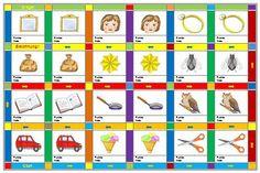 In diese Tabelle (für die Lernwörter-Text-Arbeitsblätter ...
