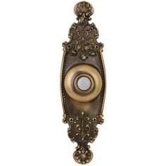 Crest Burnished Brass Doorbell Button with LED - Doorbell Cover, Doorbell Button, House Worth, Pintura Exterior, Square Planters, Outdoor Wall Lantern, Hanging Pendants, Perfect Pillow, Exterior Paint