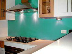 Turquoise..Backsplash..Painted Glass