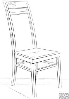 How to draw a chair   Step by step Drawing tutorials