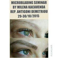 Microblading seminar#MilenaKacavenda#AntigoniDemetriou