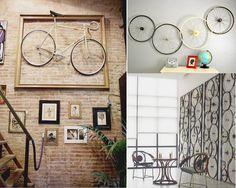 decorar paredes con bicicletas