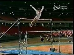 OLGA KORBUT UB ROUTINE 1973 SOVIET WOMEN'S GYMNASTICS- these kind of bar routines are unseen today.