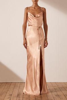 La Lune Bias Cowl Maxi Dress | Desert Rose | Dresses | Shona Joy – Shona Joy International