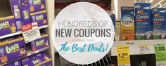 It's a new month and that means Hundreds of Dollars in New Coupons for March 2017! There are some great ones available and some deal ideas!