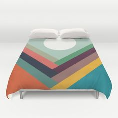 Rows of valleys Duvet Cover