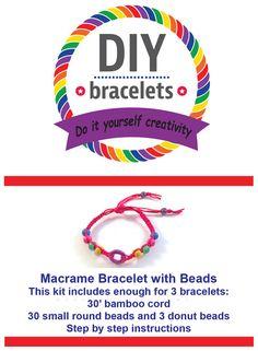 Hey, I found this really awesome Etsy listing at https://www.etsy.com/listing/186849025/diy-bracelet-kit-donut-bracelet-kit