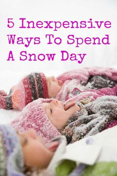 The BEST snow day kids activities to help them stay entertained when school isn't in session! The BEST snow day kids activities to help them stay entertained when school isn't in session! Snow Activities, Winter Activities For Kids, Indoor Activities, Family Activities, Toddler Activities, Kids And Parenting, Parenting Hacks, Non Toy Gifts, Infant Activities