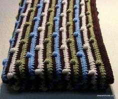 Puff Stitch Baby Blanket