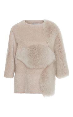 Boxy Short Sleeved Fur Top by CAROLINA HERRERA for Preorder on Moda Operandi