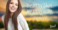 Kyäni Sunset promotes healthy hair and skin. #kyani